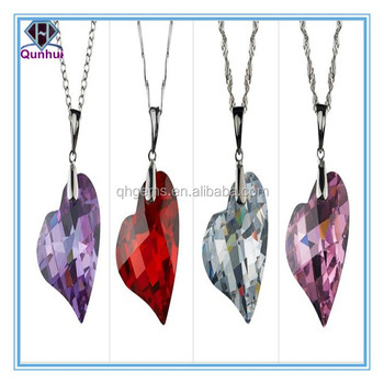 special any color heart shaped cz necklace