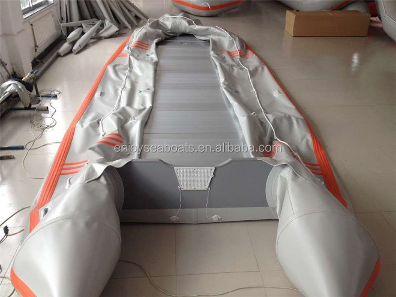 Cheap large inflatable boat 8m with ALUMINUM floor salvage pontoon boat for sale!