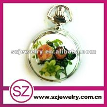 Floral Face Erotic Watches Japan Movt Pocket Watch