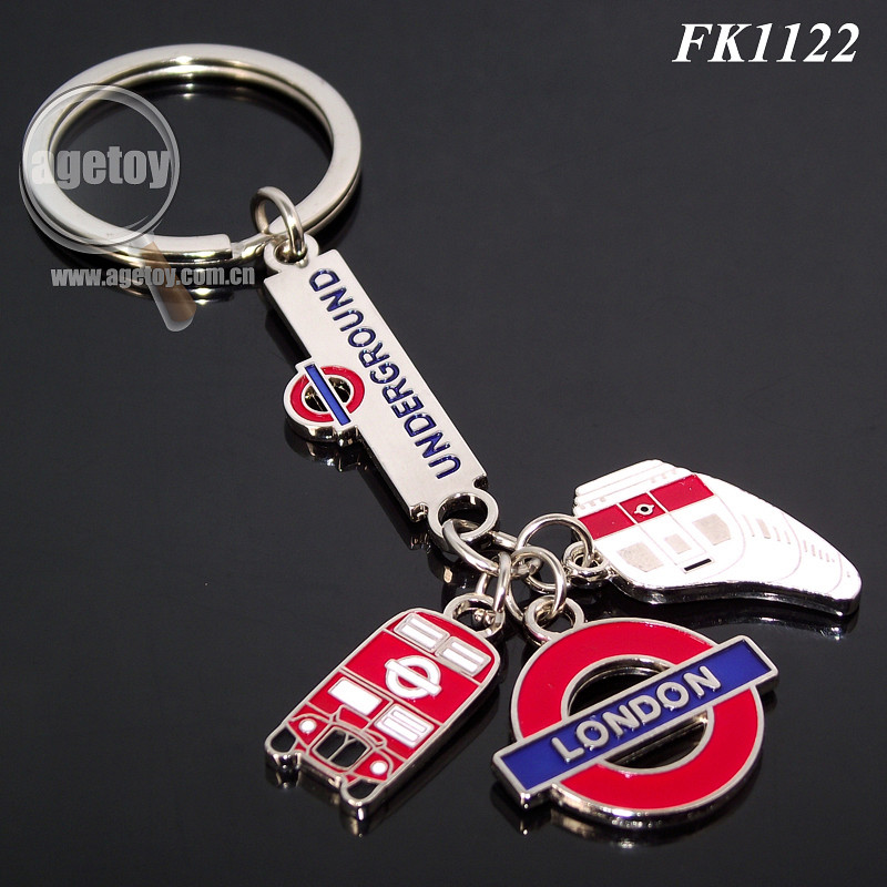 Custom Souvenir London Underground Keychain