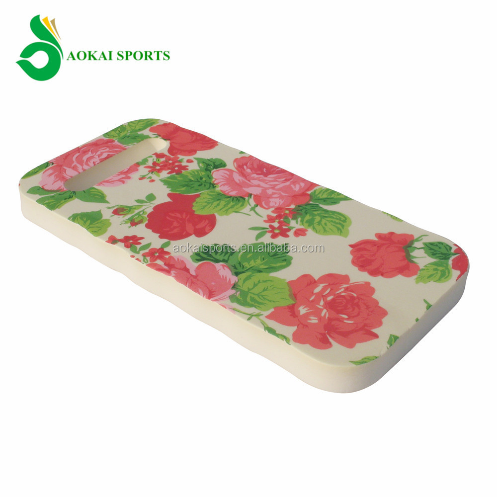 Rose pattern garden kneeling pad with handle