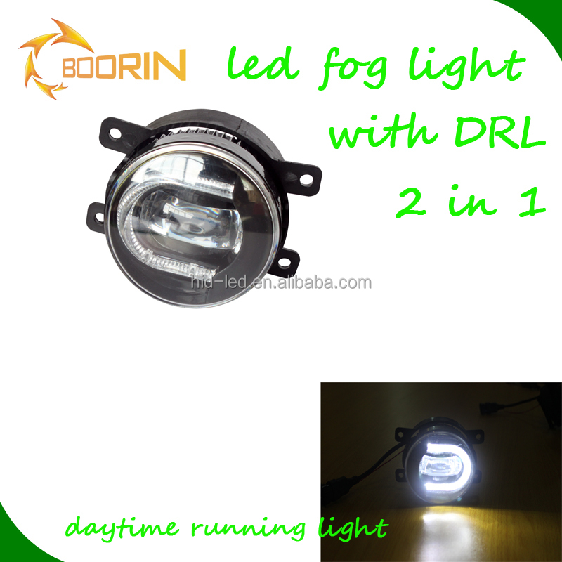 Auto accessory new product high quality front white fog lamp for toyota land cruiser with DRL