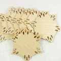 laser cut Wood Snowflakes for Ornaments Coasters wooden snowflake ornament laser cutting decoration