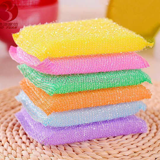 PACK OF 6 HEAVY DUTY SPONGE SCOURING PADS KITCHEN CLEANING PADS SCOURER