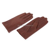 Korean mens fashion warm basic leather gloves, simple style