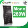 High quality 260w monocrystalline solar panel pv module price