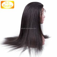 Qingdao hair factory lace wig vendors hot selling indian women hair wig full silk top cap lace wig