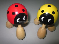 Wooden Ball Body Massager Hand Roller Therapy Relaxing spot ladybird Wood Handheld Body Massage toys