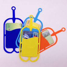 Universal silicone mobile phone strap neck lanyard holder Card slot Case For Iphone 7