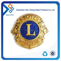 Personalized gold plated metal security badge