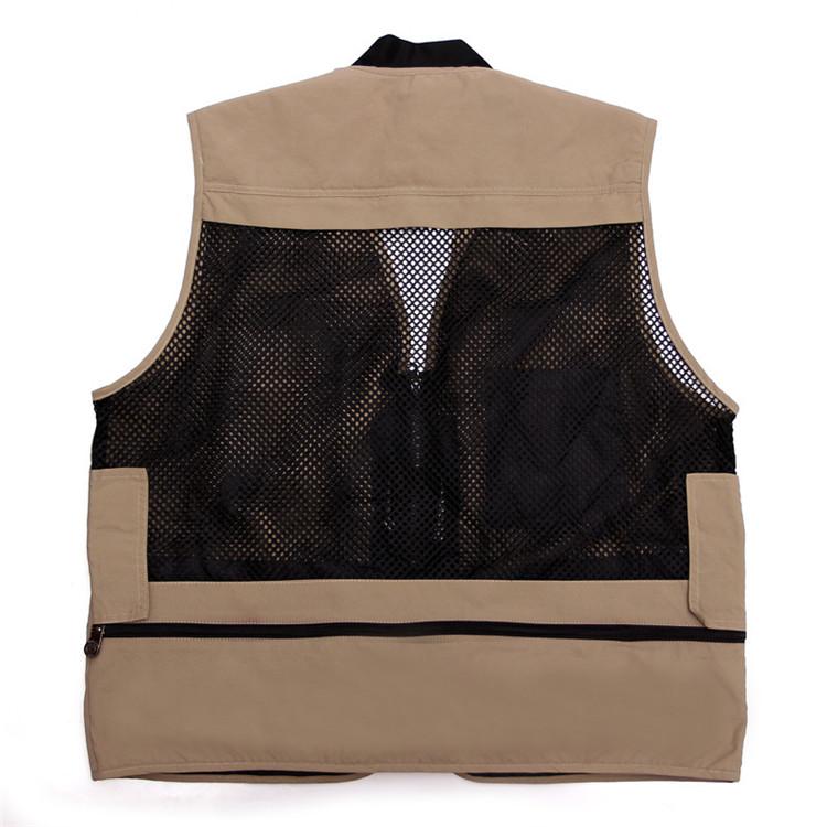 Мужские сексуальный рукавов жилет грузовой сетки жилет с несколькими карманами