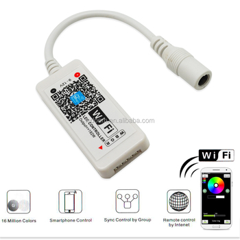 rgb led strip light wifi controller by iphone