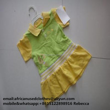 secondhand clothing /fashion used clothing, used clothes, Children's cotton blouse with flower circumference
