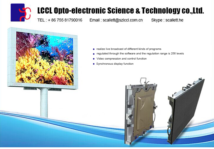 factory wholesale price high brightness waterproof commercial outdoor led large screen display