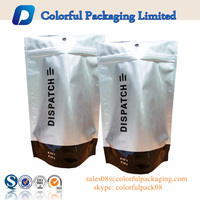 Hottestfood grade stand up bag foil zip lock packaging aluminum moisture barrier bag