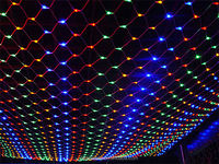decoration colorful led net light with controller