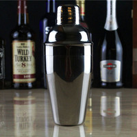 550ml Stainless Steel Cocktail Shaker Cocktail Mixer Wine Martini Drinking Boston Style Shaker For Party Bar Tool