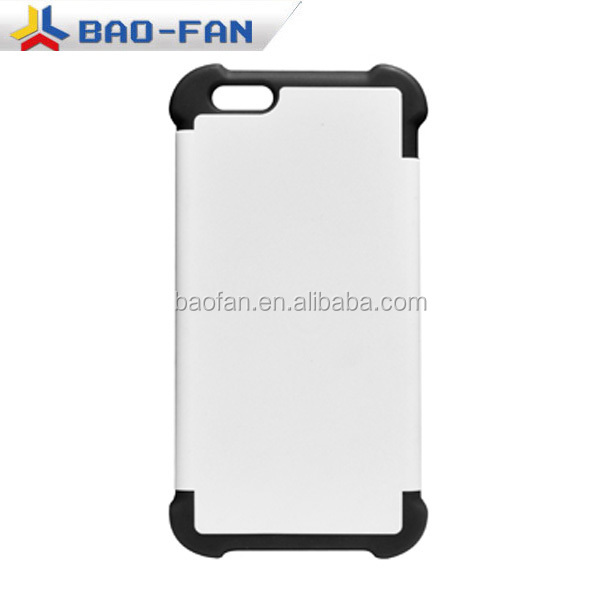 Newest 2in1 3D sublimation silicone dual protective 3D I6 phone case