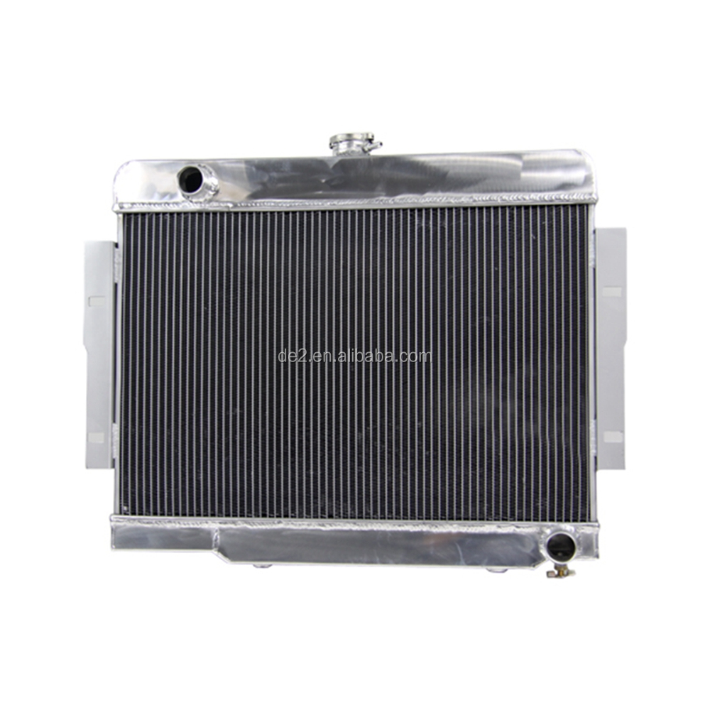 cheap 3 core racing car radiator for Jeep V8 Conversion CJ CJ5 CJ7 V8 1972-1986