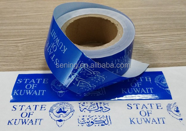 PET tamper proof void polyester security packing tapes