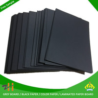 china manufacturer paper thick black paper board 350g black paper