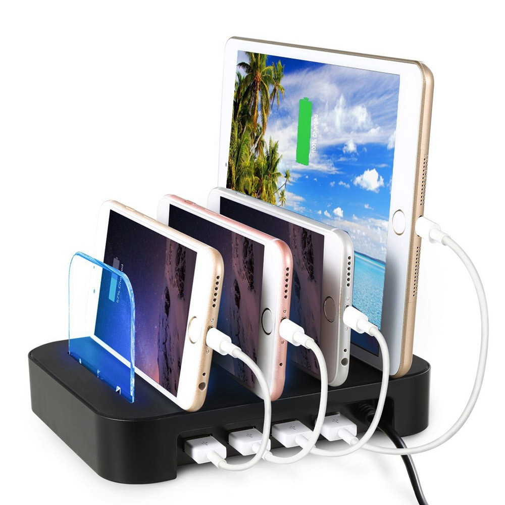 2016 portable 4 port multi usb charge box tablet cell mobile phone charging station