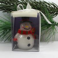 art candle/ christmas snowman candle/handmade christmas candle