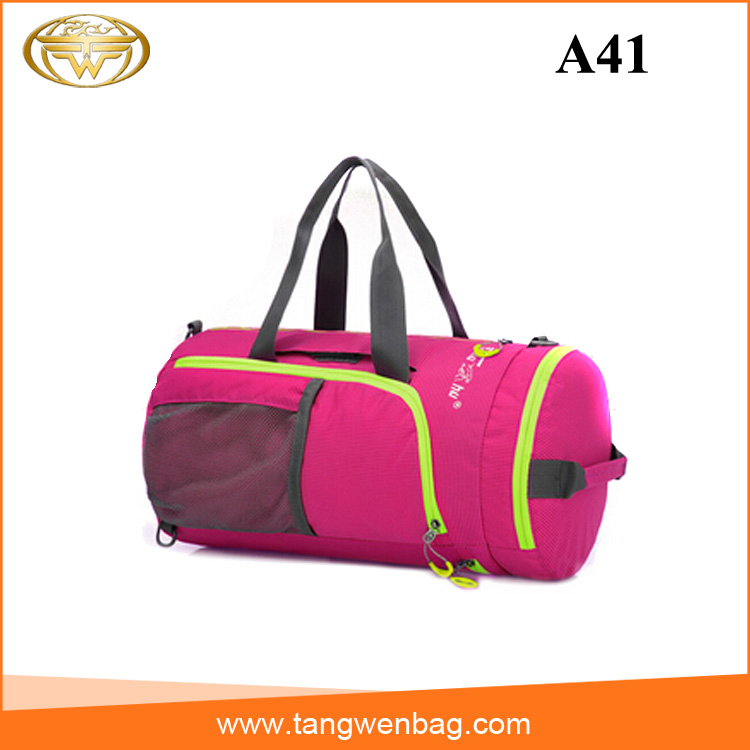 Best price outdoor vintage women travel packs fashion rolling plain duffel bag