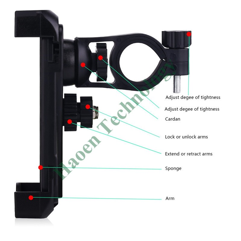 100pcs Whoesale factory sell high quality bicycle bike mobile phone mount holder for bike