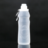 2016 Outdoor Portable Squeeze food grade silicone water bottle