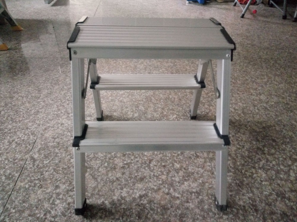 2016 HD EN131 Aluminum Platform Drywall Step Up Folding Work Bench Stool Ladder