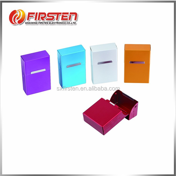 Simple design cheap wholesale aluminum metal custom cigarette box