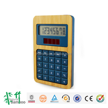 2017 wholesale bamboo 8 digit electronic solar calculator citizen calculator office gift desktop calculator