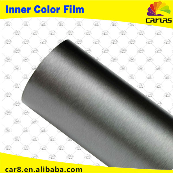 Silver film air bubble plastic roll brushed vinyl