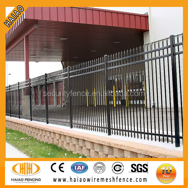 Hebei anping local factory galvanized wrought iron fence