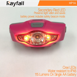 custom printed adjustable white red strobe and sos light powerful headlamps led