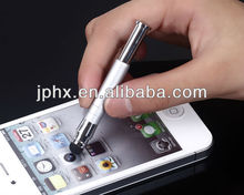 2013 factory supply retractable capacitive stylus touch pen for iphone ipad smartphone