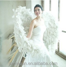 Photo stage prop white angel wings