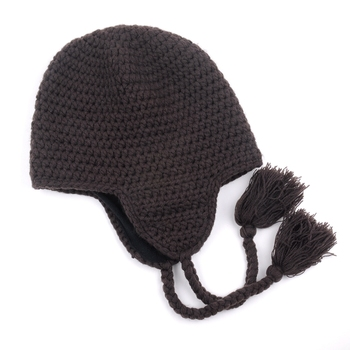 Wholesale Men's Beanie Hats Knitting Beanie Winter Tassel Knit Hat Made in China