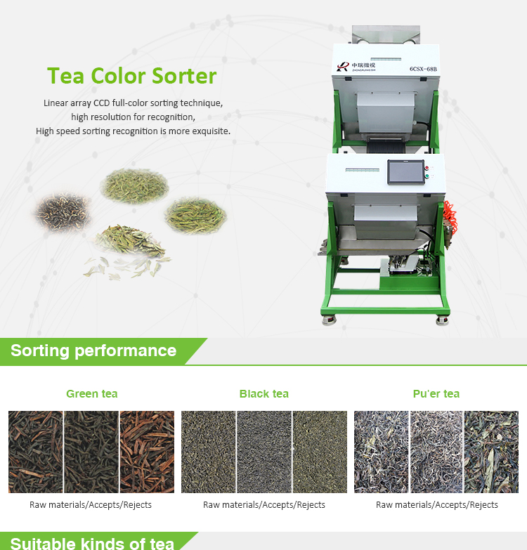 Excellent Quality Electronic Large Ceylon Tea Color Sorter For Sale by Manufacturer
