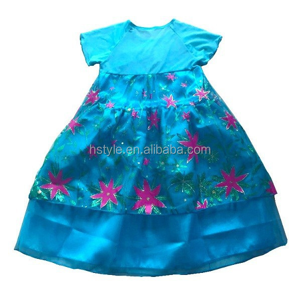 2015 New Fairy Tail Role play Halloween Party Frozen Costumes Elsa Princess Dress Anna Princess Dress SU056