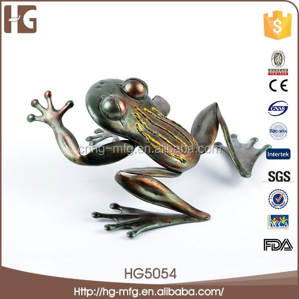 Funny design metal flower pattern frog craft 19x15x8CMH HG5054 metal door decoration for wholesales