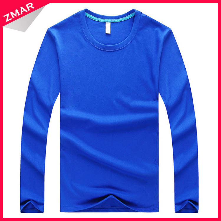 China manufacturer wholesale blank cheap men long sleeve t-shirts