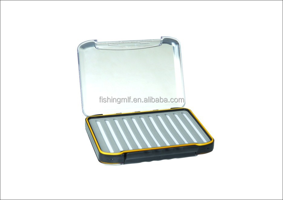 MHB68 series 295mm x 215mm x 54mm large clear acrylic plastic fly fishing box