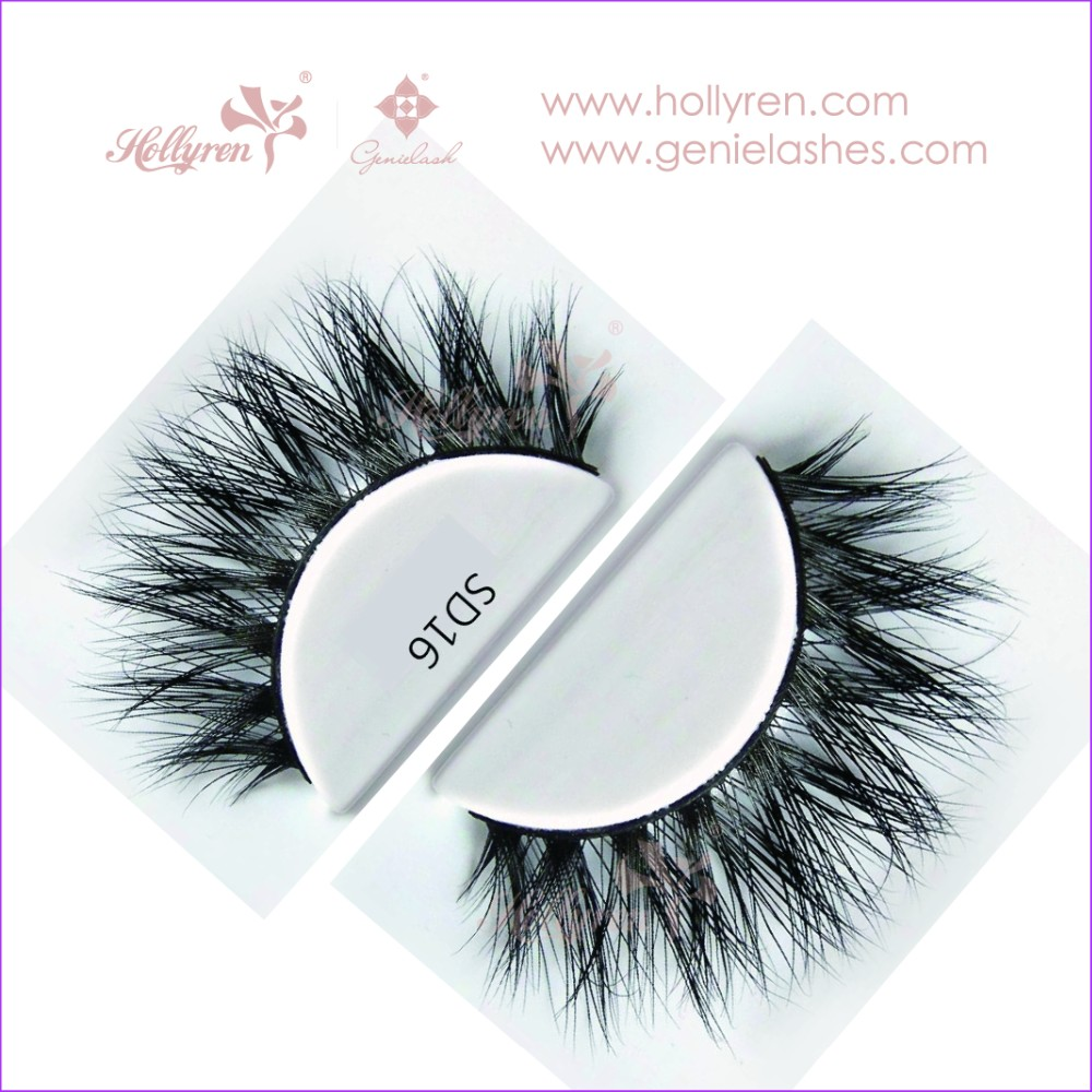 Fashion Lady Siberian Fluffy 100% 3D Real Mink Fur Strip Lashes