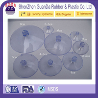 China Suppliers Customized 15mm 20mm 25mm 30mm 35mm 40mm 50mm 55mm 60mm 70mm 80mm 90mm Pvc suction cup