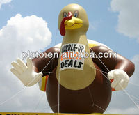 advertising inflatable turkey cartoon