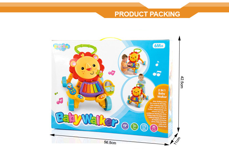 2016 New design best selling pedal go walker baby cart