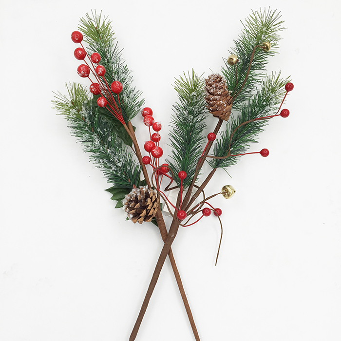 wall decoration pinecone design artificial tree branch, fashion luxury home decoration
