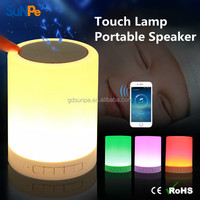 MP3 Player Portable Led Touch Sensor Table Lamp With Mini Bluetooth Speaker